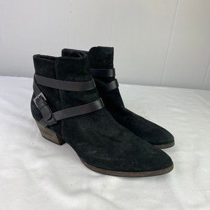 💚Vero Cuoio | Size 12 Black Suede Leather Booties